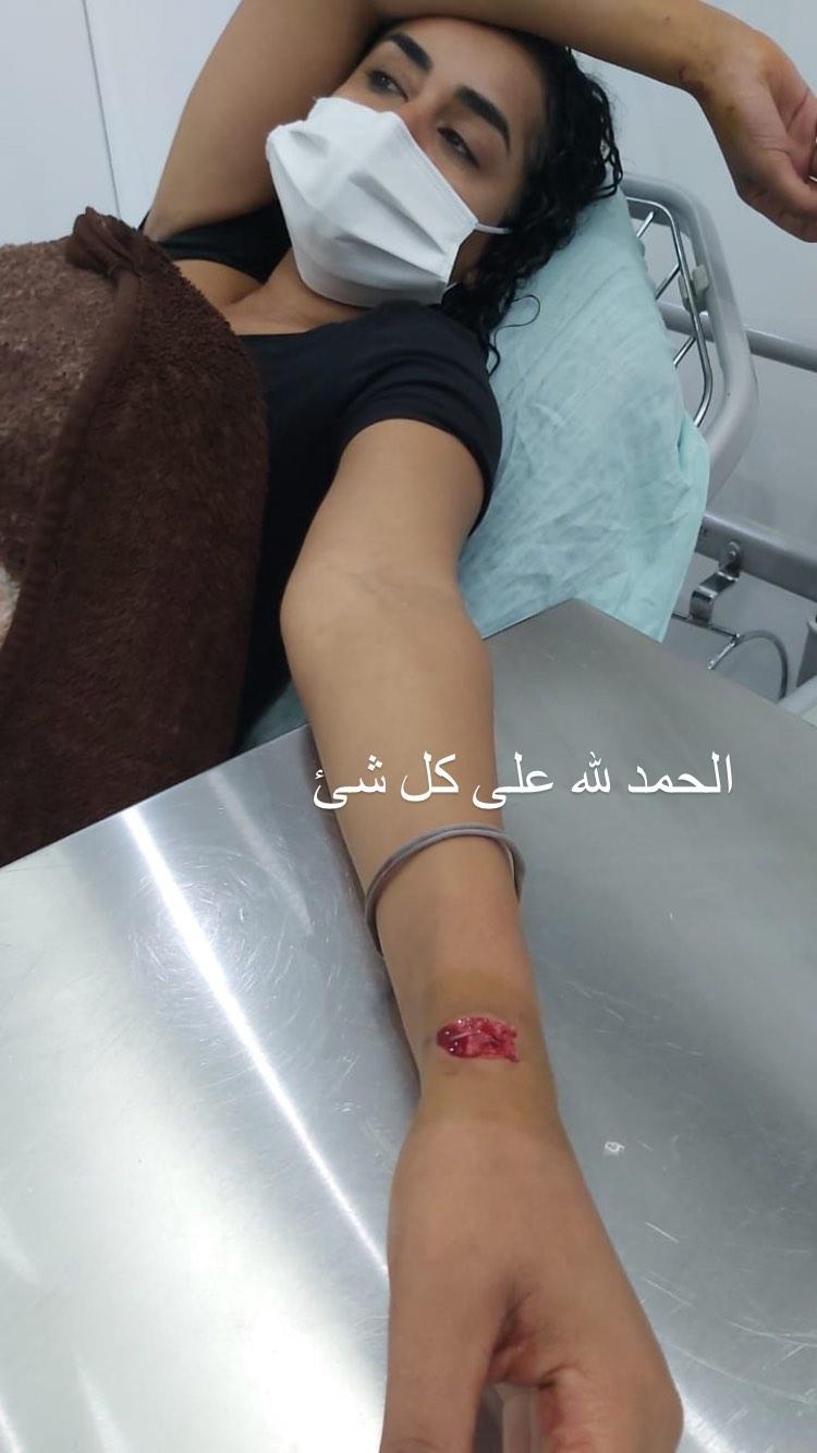 نانسي صلاح اثناء تلقيها للعلاج في بيروت