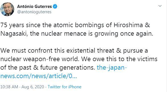 امين الامم المتحدة على تويتر