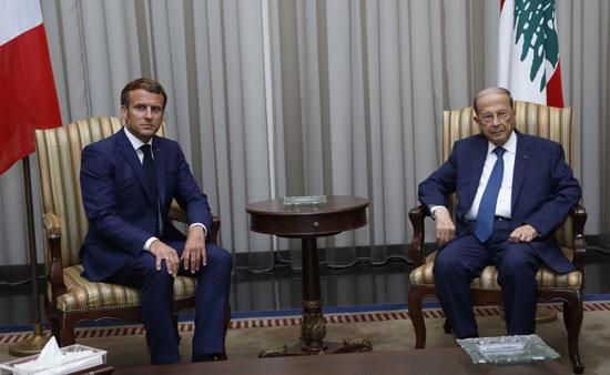 الرئيس اللبنانى يستقبل ماكرون