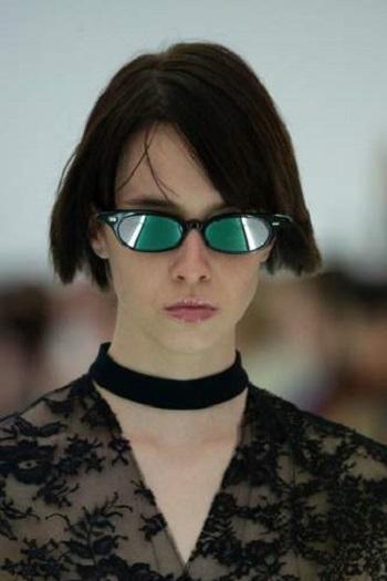 نظارة شمسية بإطار صغير