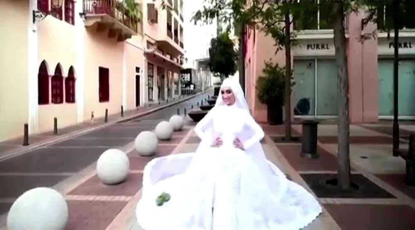 العروس البنانية قبل الانفجار