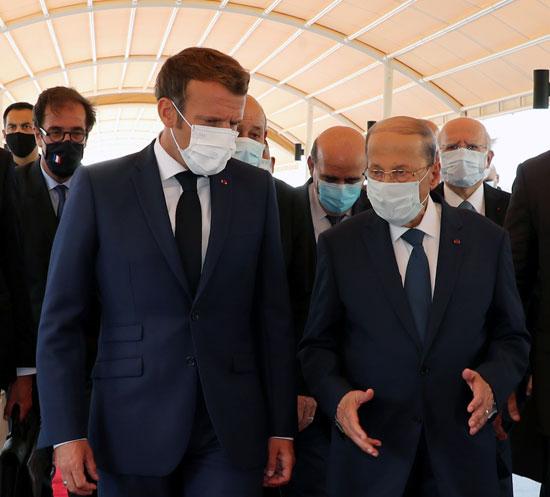 ماكرون مع الرئيس اللبنانى