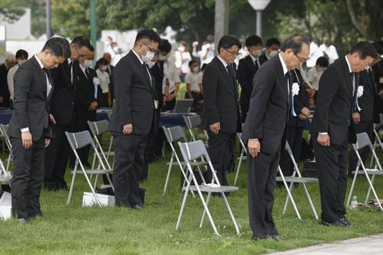 شينزو أبى يشارك فى احياء ذكرى هيروشيما