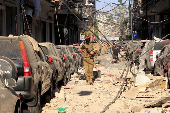 قوات الأمن تنتشر فى شوارع بيروت