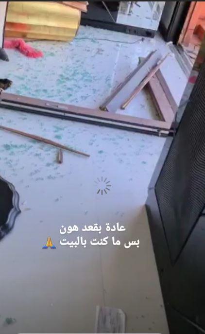 منزل هيفاء وهبي بعد تفجيرات بيروت (4)