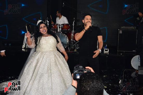 حماقى يغنى فى حفل زفاف شيماء سيف