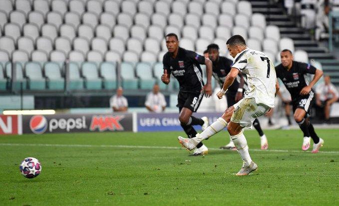 كريستيانو رونالدو يسجل الهدف الأول أمام ليون