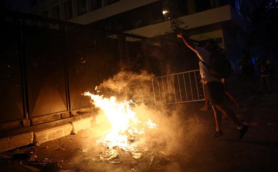 العنف بشوارع بيروت
