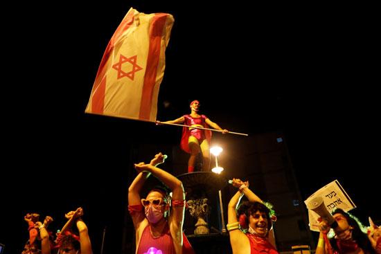مظاهرات بمحيط منزل نتنياهو
