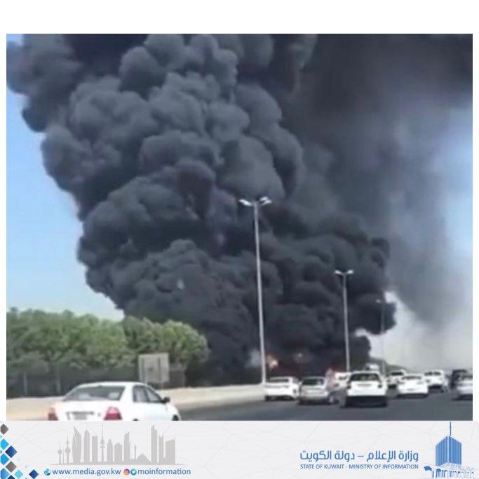 دخان كثيف على الطريق