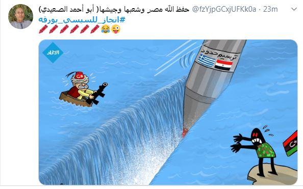 كاريكاتير يسخر من محاولات تركية