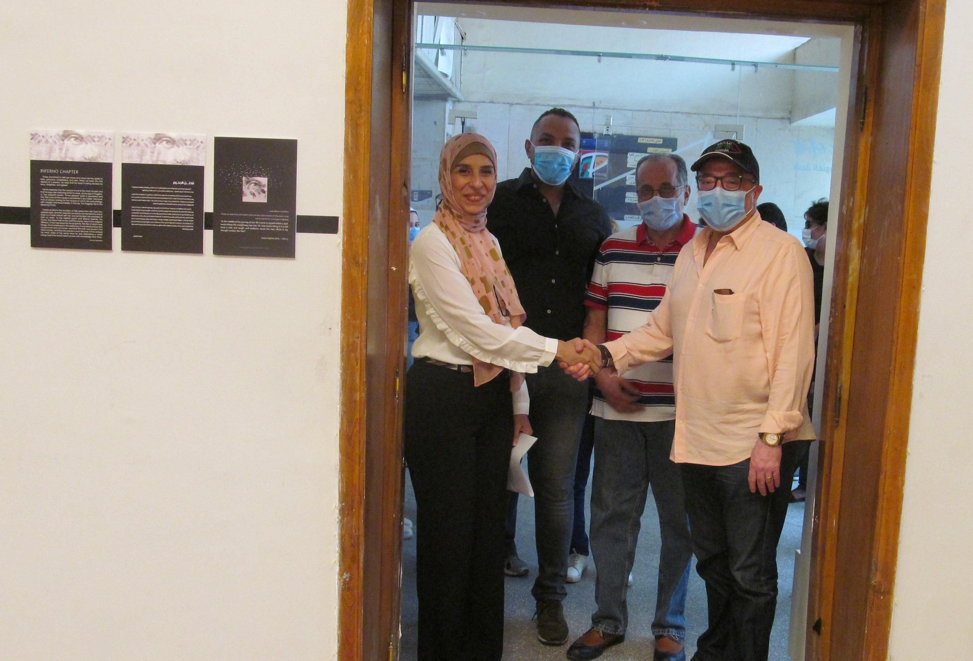 الدكتور أشرف رضا يفتتح معرض الدكتورة إيمان أسامة