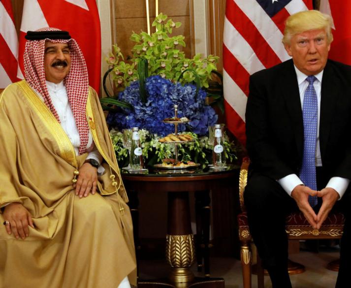 ترامب وملك البحرين