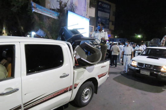 ضبط مقهى مخالف يقدم شيش لرواده فى حملات بمحافظة الأقصر (5)