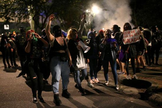 احتجاجات كولومبيا