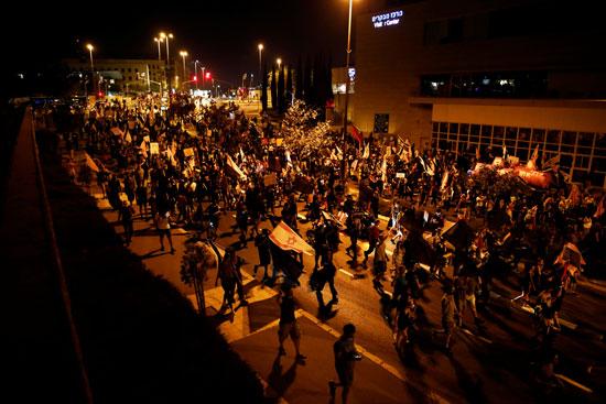 مسيرة ضد نتنياهو