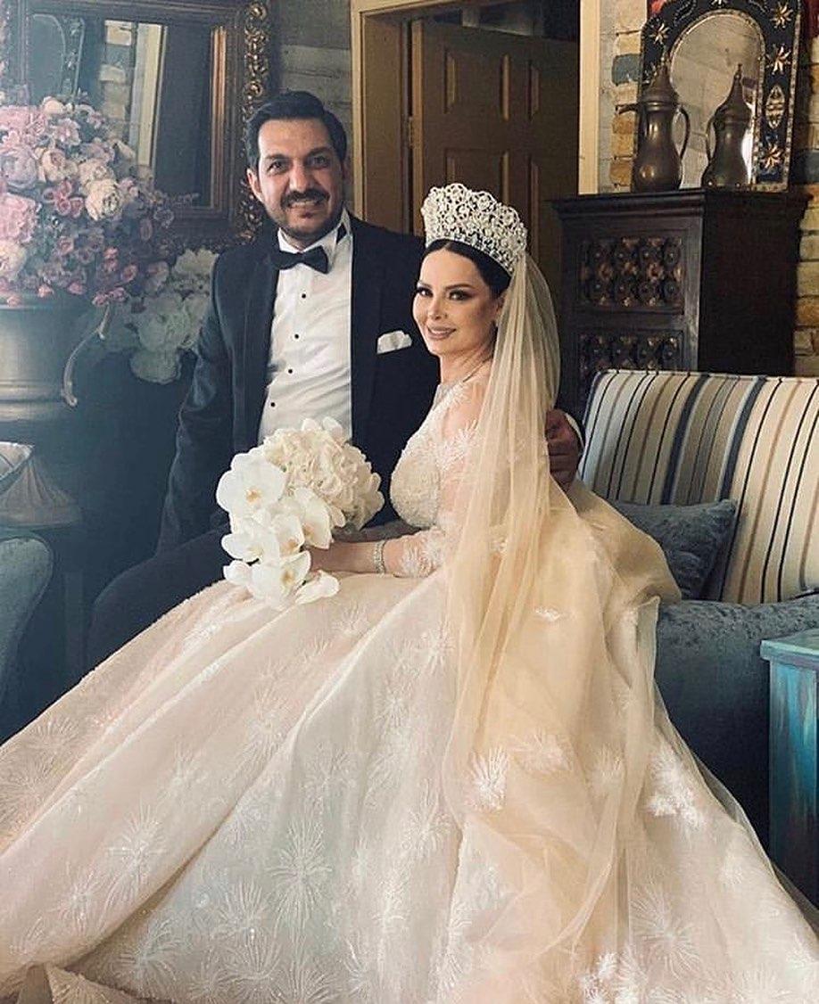 حفل زفاف النجمة ديانا كرزون