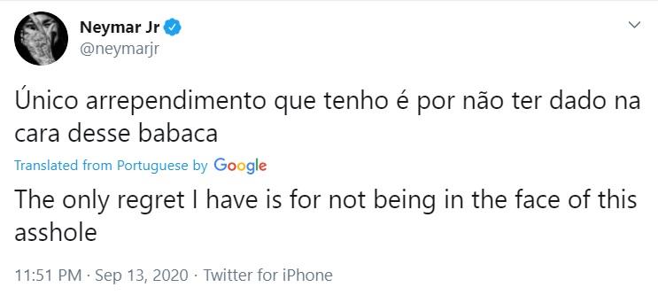 تغريدة نيمار