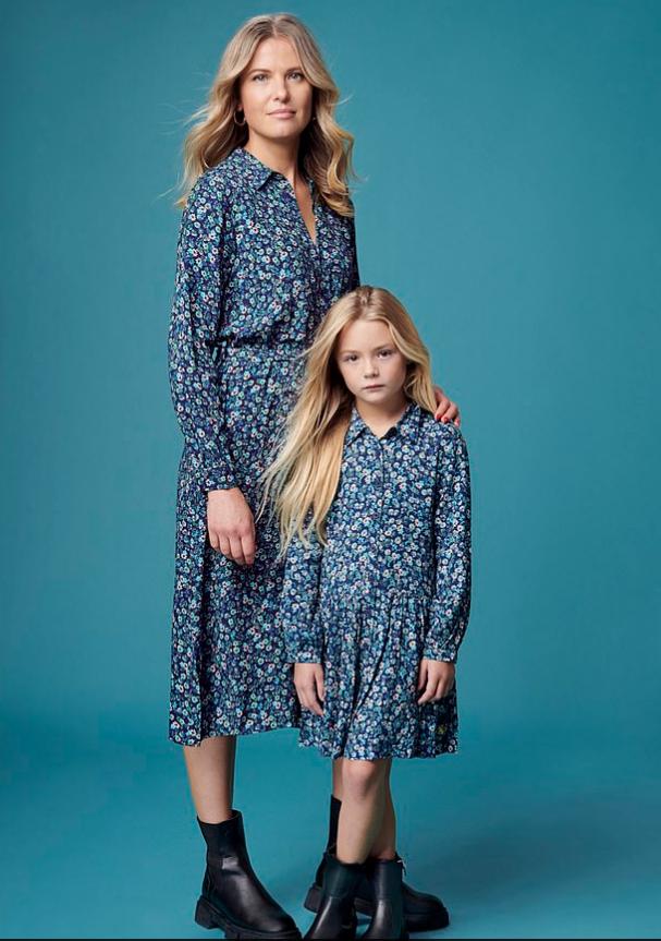 تنسيق الأزياء بين الأم وابنتها