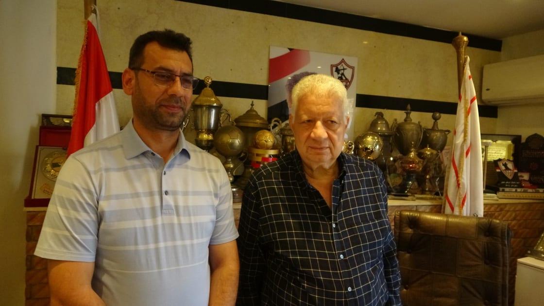 مرتضى منصور ونائب نادى نفط الوسط العراقى