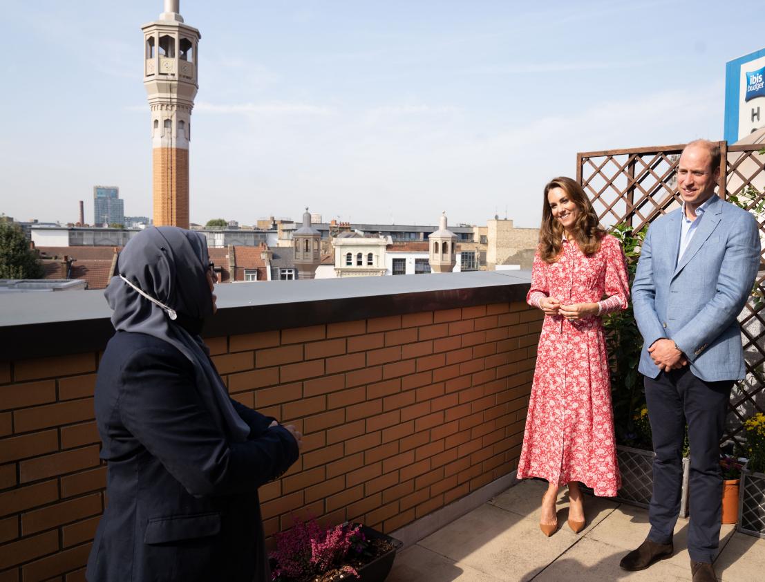 كيت ووليام فى مسجد بشرق لندن