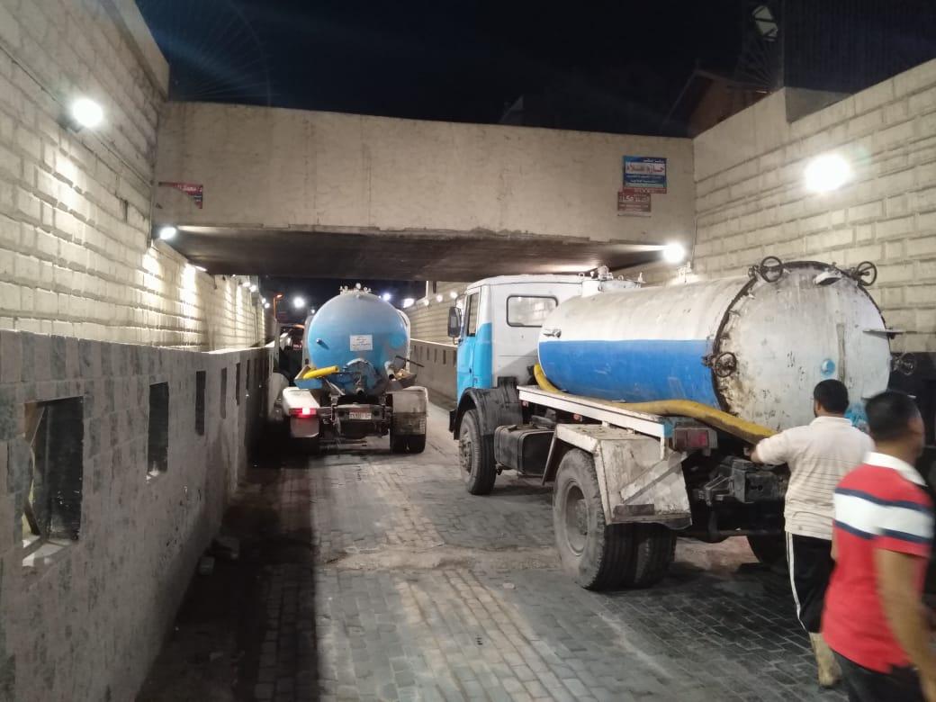 مناورة شفط مياه من الانفاق إستعدادا لفصل الشتاء بالغربية (9)
