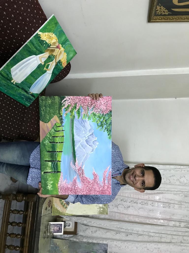 الشاب محمد احمد عبد المجيد ولوحاته الفنية (2)
