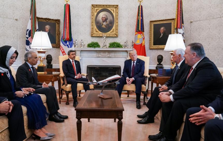لقاء ترامب وعبد الله بن زايد
