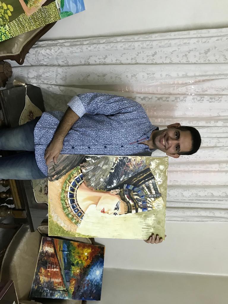 الشاب محمد احمد عبد المجيد ولوحاته الفنية (1)