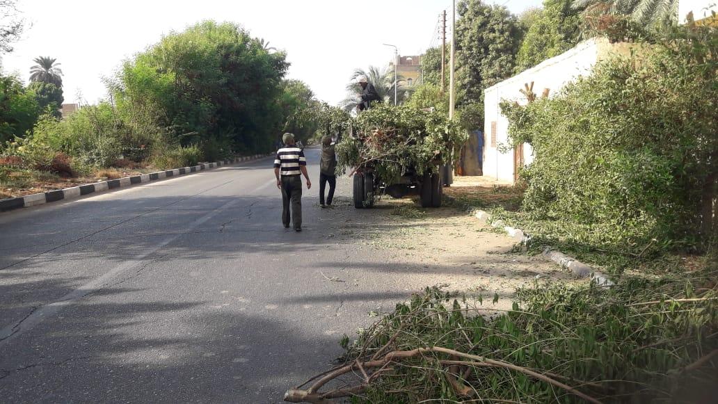 مدينة القرنة تستكمل دهان واجهات منازل المسار السياحى  (4)