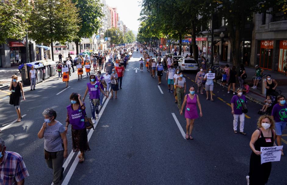مظاهرات في الشارع