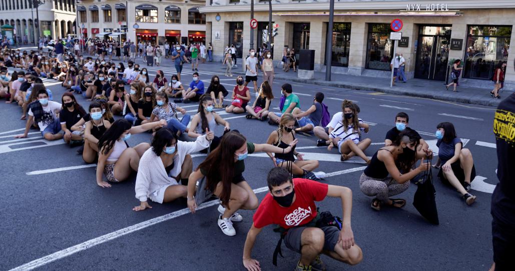 مظاهرات بالجلوس في الشوارع