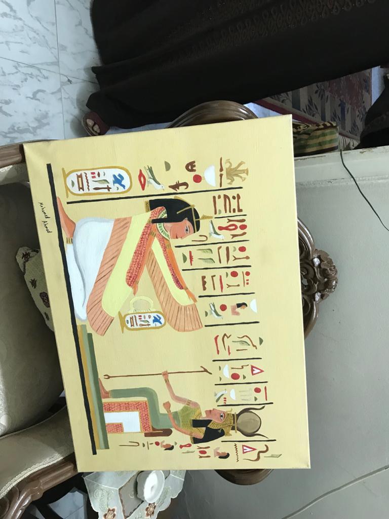 اللوحات الفنية للشاب محمد احمد عبد المجيد  (3)