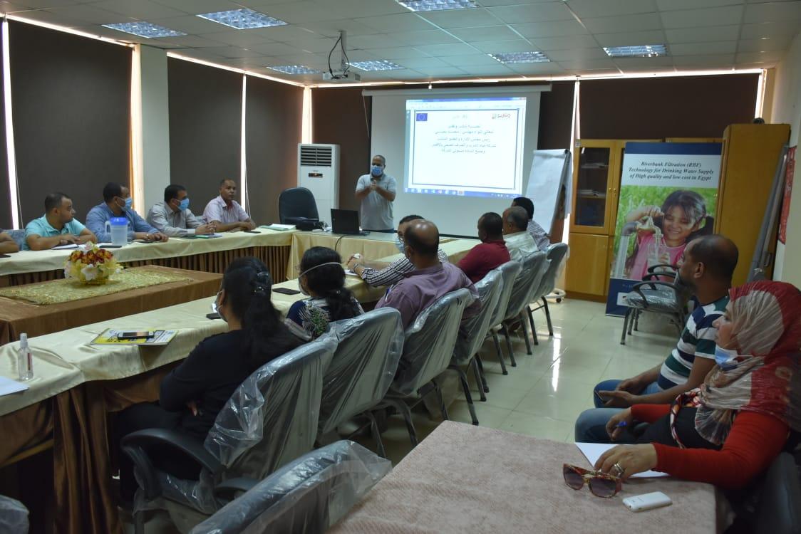 شركة مياه الأقصر ورشة تدريبية حول مشروع معالجة الأسباب الجذرية للهجره  (1)