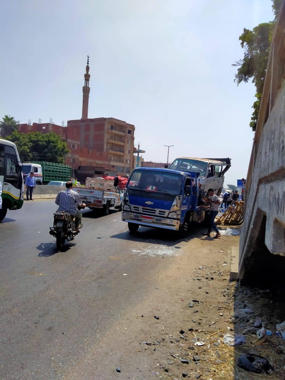 الحادث المرورى بالطريق الزراعي 4