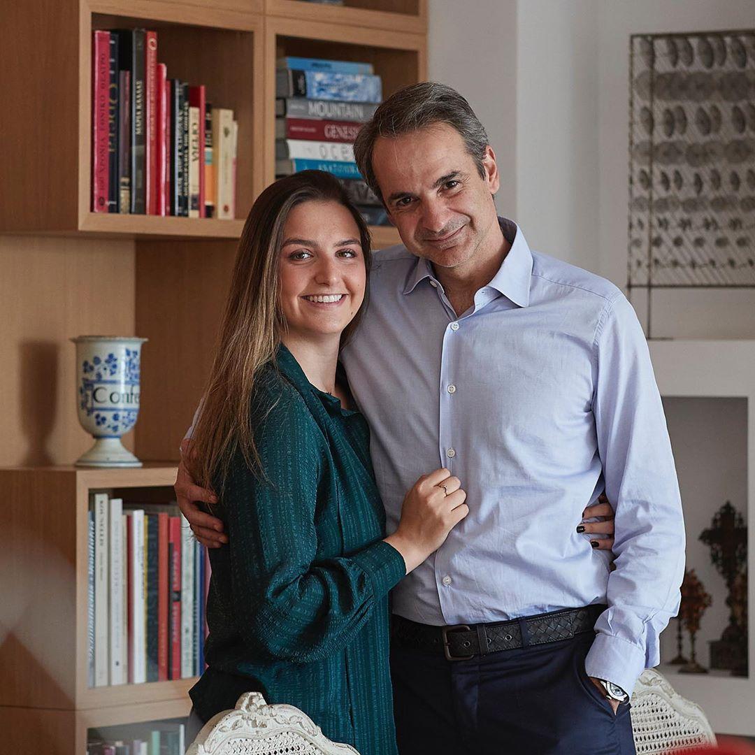 كيرياكوس ميتسوتاكيس وزوجته ماريفا جرابوسكى