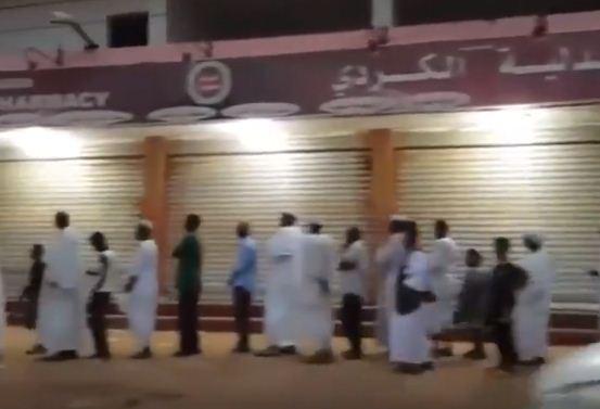 اطول طابور فى السودان