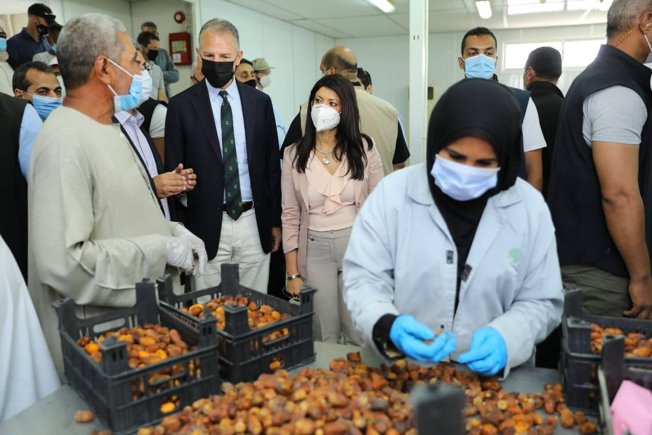 جانب من جولة وزيرة التعاون وسفير واشنطن بالقاهرة (10)