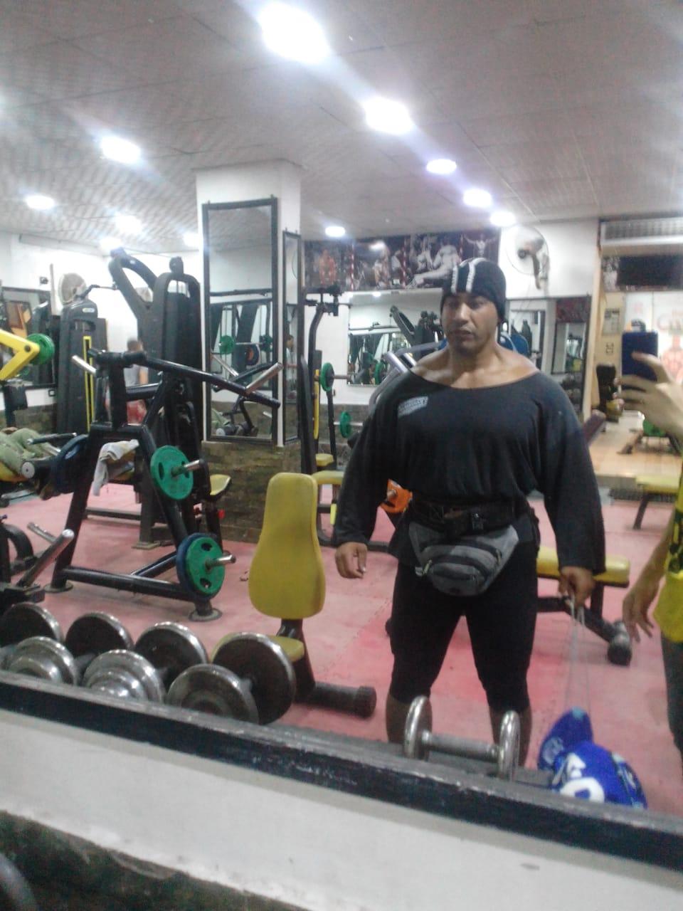 المجنى عليه خلال التمرين الرياضى
