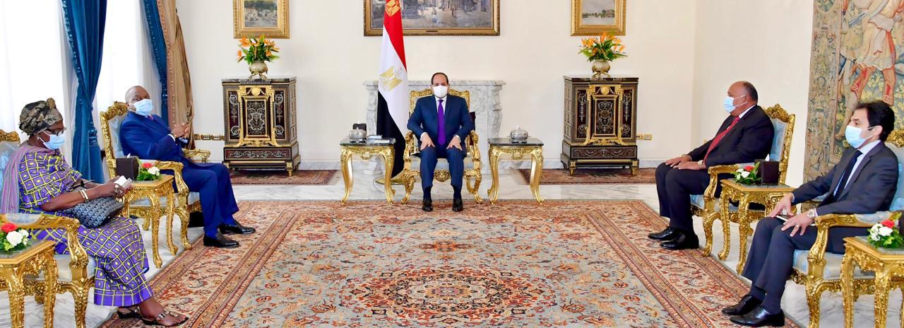 الرئيس السيسي يتلقى رسالة خطية من رئيس الكونجو