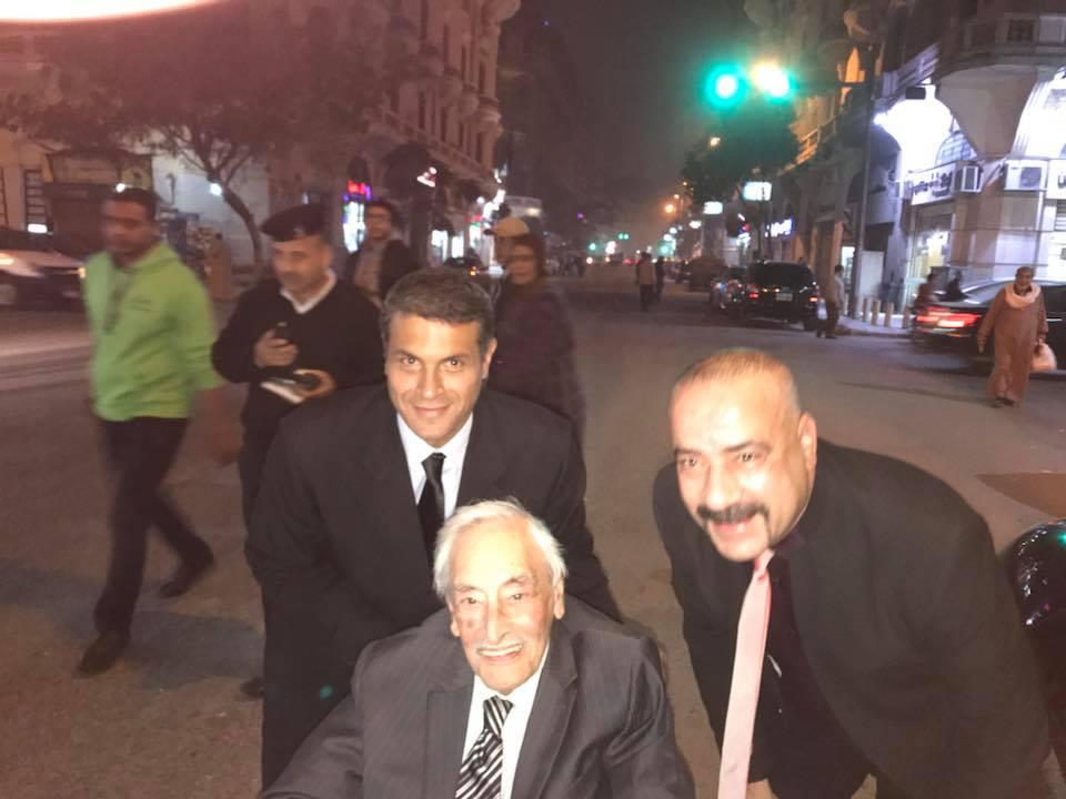 محمد سعد مع الفنان الراحل