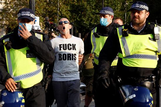 اعتقال مشارك في المظاهرات