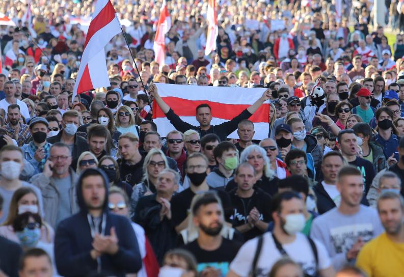 مظاهرات روسيا البيضاء