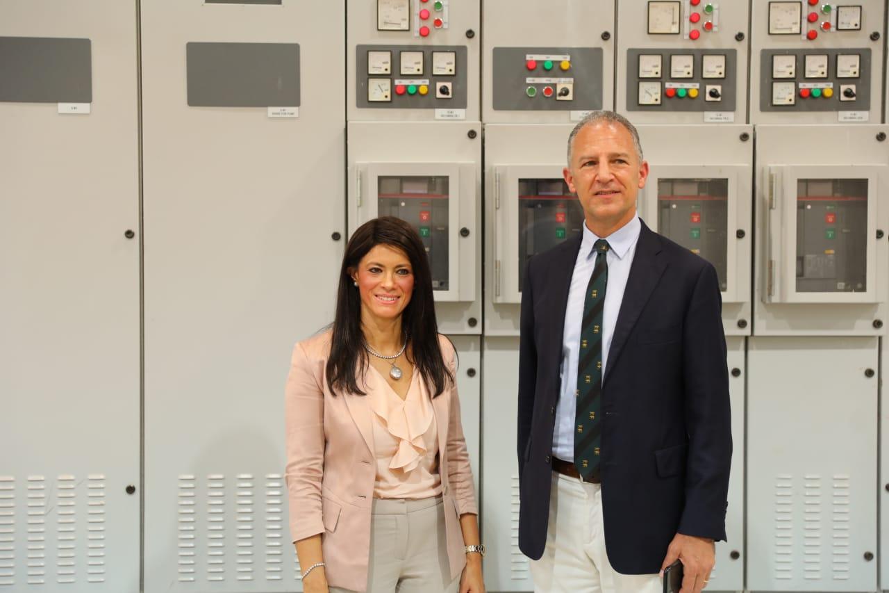 وزيرة التعاون الدولى تفتتح توسعات محطة معالجة مياه الصرف بالأقصر (2)
