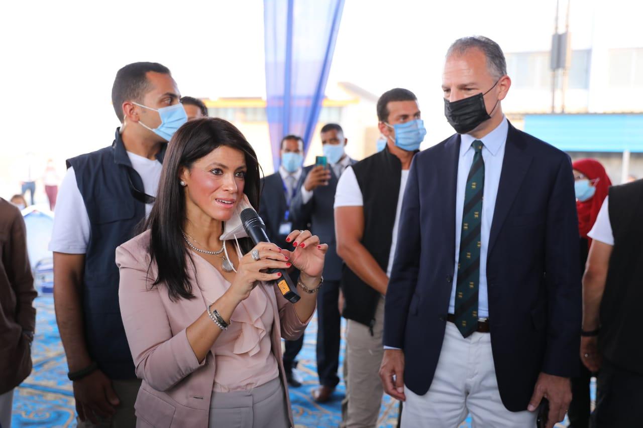 وزيرة التعاون الدولى تفتتح توسعات محطة معالجة مياه الصرف بالأقصر (5)
