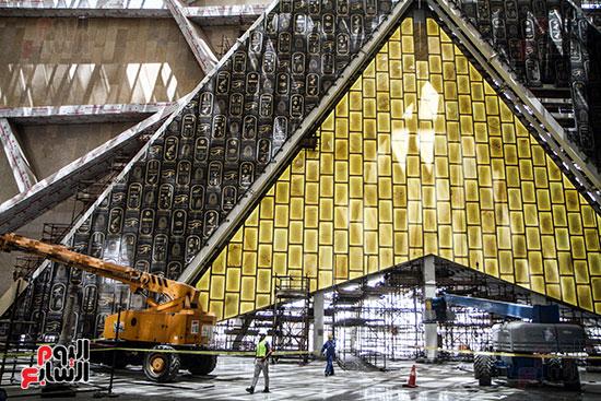 واجه المتحف المصري الكبير من الداخل