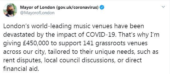 عمدة لندن على تويتر