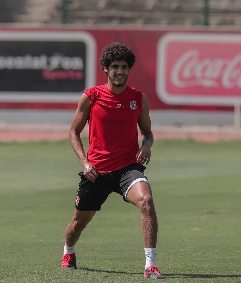 أحمد الشيخ وجدية فى التدريبات