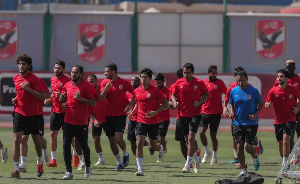 مران الأهلى قبل مواجهة نادي مصر