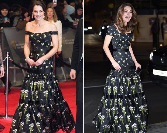 غيّرت ميدلتون أكمام فستان ألكسندر ماكوين.